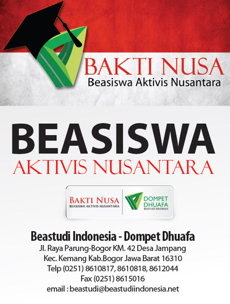 Beasiswa Aktivis Nusantara (BAKTI NUSA 2014)