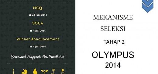 MEKANISME SELEKSI TAHAP 2 OLYMPUS 2014